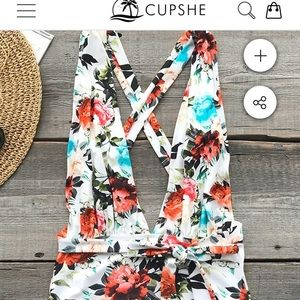 Floral backless one piece